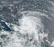 Imagen de satélite del huracán Elsa para el pasado viernes, 2 de julio de 2021.