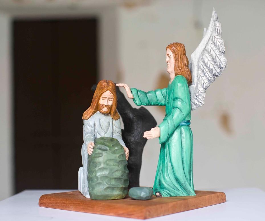 """""""La Oración de Jesús en el huerto"""", por Jorge Antonio Romero, exhibe su estilo más tradicional y fuerte."""