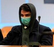 Alberto S.G., de 28 años, conocido como el caníbal del barrio madrileño de Ventas, durante el juicio en la Audiencia Provincial.
