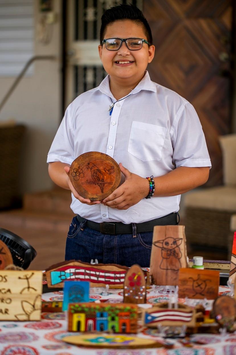 Somos Puerto Rico Entrevista a Ever Cancel Muñoz, joven artesano de Aguada.    Xavier Garcia / Fotoperiodista
