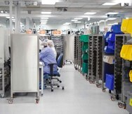 Vistazo a las operaciones de la fábrica de Medtronic en Juncos. (archivo)