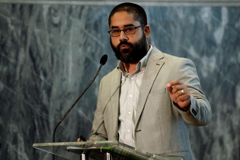 Javier Hernández Acosta, director del Departamento de Administración de Empresas de la Universidad del Sagrado Corazón, moderó el encuentro.