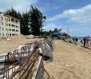 El área donde se pretendía construir una piscina como parte del complejo del condominio Sol y Playa, en Rincón.