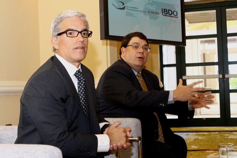 Gabriel Hernández y Fernando Scherrer, socios fundadores de BDO Puerto Rico. (GFR Media)