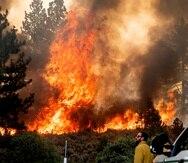 El incendio forestal en Plumas National Forest, California el 9 de julio de 2021.