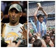Las inesperadas muertes de los astros deportivos Kobe Bryant y Diego Armando Maradona sacudieron el mundo deportivo en 2020.