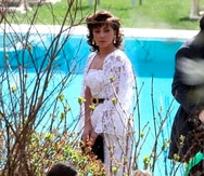 """Lady Gaga y Adam Driver durante el rodaje de la película """"House of Gucci"""" sobre el asesinato de Maurizio Gucci."""
