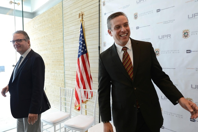 El presidente de la Academia Puertorriqueña de Jurisprudencia y Legislación es Antonio García Padilla (izquierda), hermano del exgobernador Alejandro García Padilla. (Archivo / GFR Media)