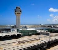 Una vista del Aeropuerto Internacional Luis Muñoz Marín.