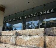 La sede de la Comisión Estatal de Elecciones. (GFR Media)