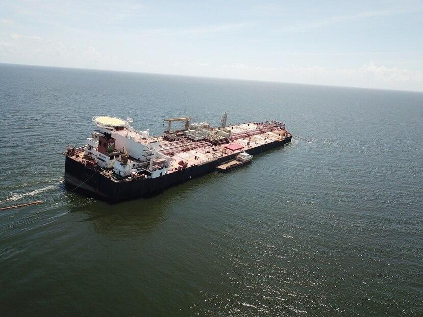 El buque Nabarima está varado en el golfo de Paria, entre Venezuela y Trinidad y Tobago.
