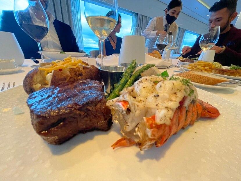 Mar y tierra en restaurante de The Haven.Foto Gregorio Mayí