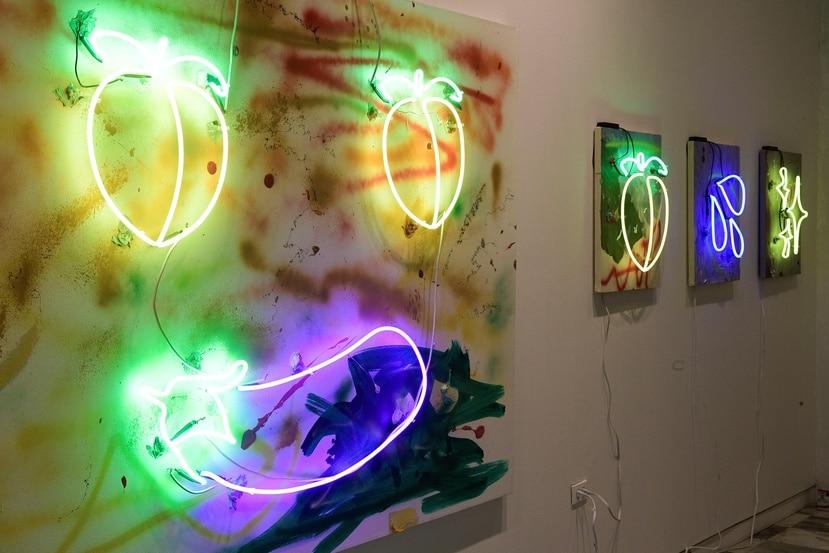 Piezas del artista puertorriqueño Bobby Cruz que se exhiben en MECA.