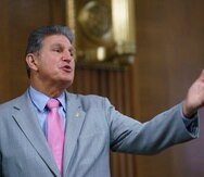 Sen. Joe Manchin, D-W.Va., chair of the Senate Energy and Natural Resources Committee, arrives to hold a confirmation hearing for Tommy Beaudreau of Alaska, to be deputy secretary of the Department of the Interior, at the Capitol in Washington, Thursday, April 29, 2021. (AP Photo/J. Scott Applewhite)
