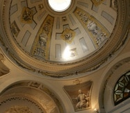 Vista de la bóveda y parte del interior de la Capilla en el Seminario Conciliar San Ildefonso, que ubica en el número 50 de la Calle del Cristo en el Viejo San Juan. La propiedad fue vendida el pasado 1 de junio por la Arquidiócesis de San Juan junto al Palacio Arzobispal por $8,050,000.