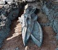 Paleontólogos tailandeses trabajan en determinar la edad de un fosil casi intacto de rorcual de Bryde, que podría tener entre 3,000 y 5,000 años, hallado cerca de Bangkok y a unos 12 kilómetros de la actual línea de costa.