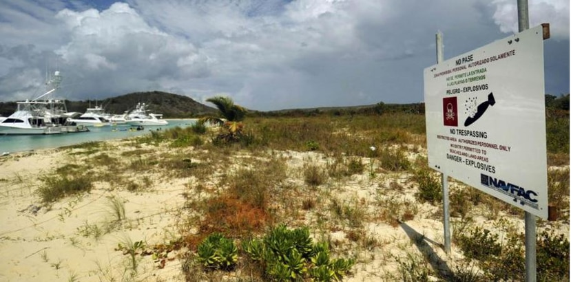 The cleanup and decontamination efforts in Vieques, following the Navy's exit, could be drastically limited by the cuts President Trump has proposed for the EPA. (Archive)