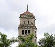 La torre de la Universidad de Puerto Rico, en Río Piedras.