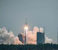China envía con éxito al espacio un módulo clave para su estación espacial permanente.