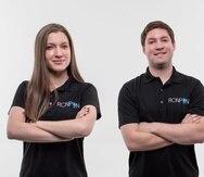 Camelia y Javier Porrata, hermanos fundadores de la aplicación de entregas RonPon y ahora del vertical B2B RonPon Entregas.