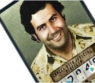 Imagen del teléfono celular de Pablo Escobar. (Escobar Inc)