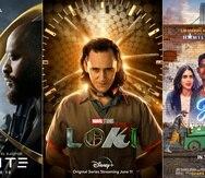 """La película """"Infinite"""", la serie """"Loki"""" y la cinta musical """"In the Heights"""" se estrenan esta semana en cine o servicios de streaming. (Paramount+/Disney+/HBO Max vía AP)"""