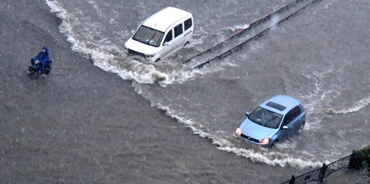 Caos y destrucción en China por inundaciones sin precedentes
