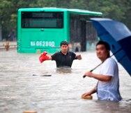 Inéditas inundaciones en China han dejado al momento 25 muertos.