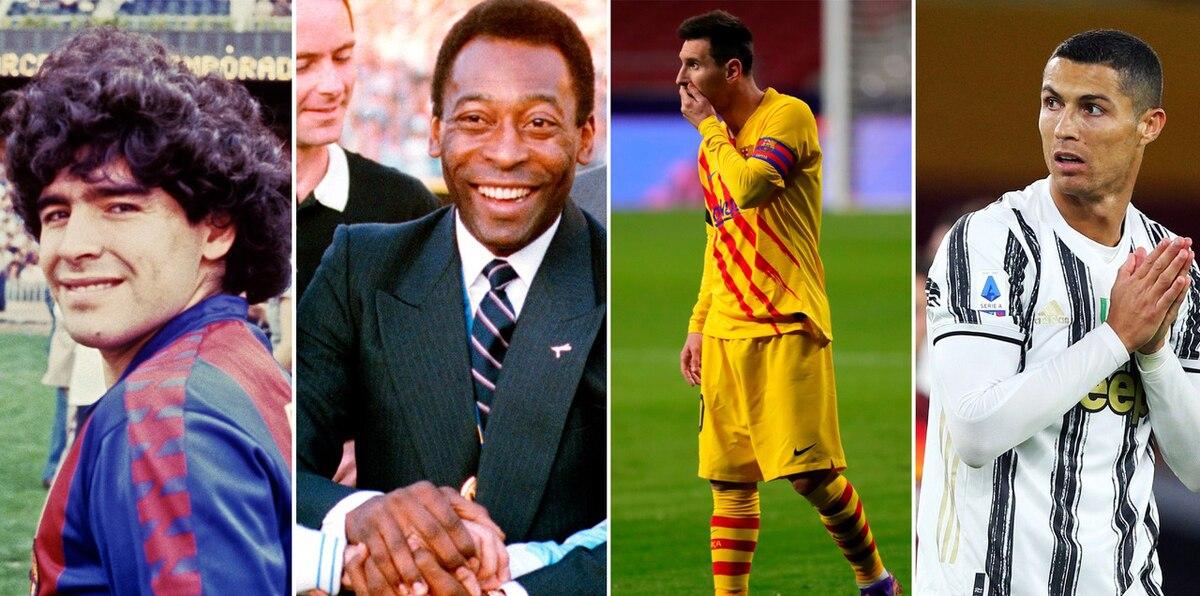 Pelé, Cristiano y Messi se conmueven tras muerte de Maradona