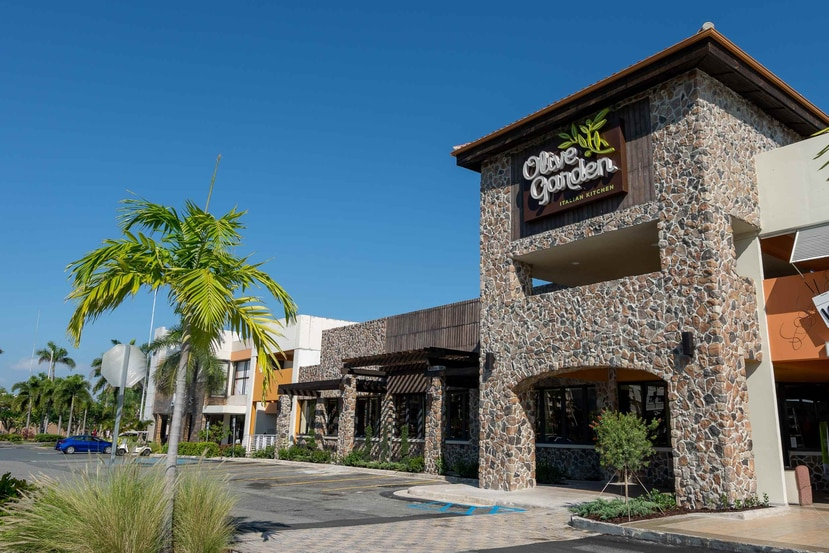 Vista del nuevo Olive Garden en Escorial Shopping Village en Carolina. (Suministrada)