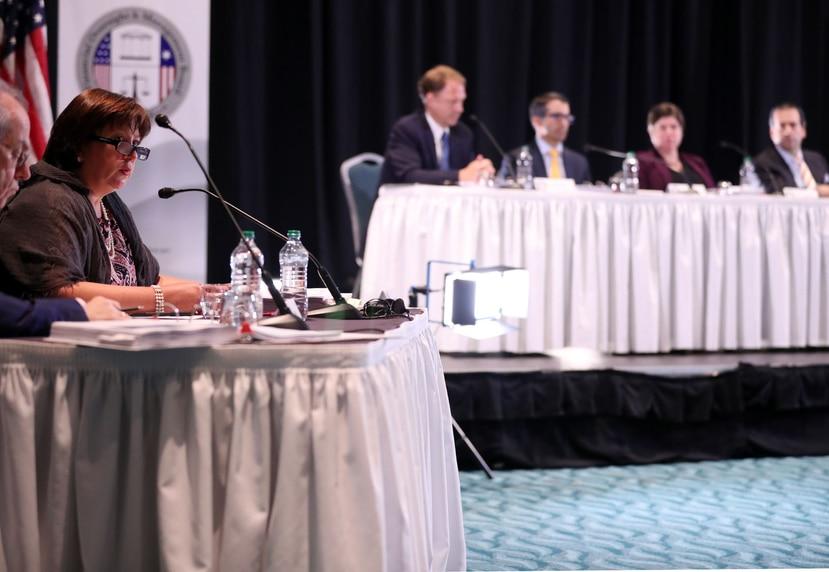 Junta de Supervisión fiscal durante sesión pública. (GFR Media)