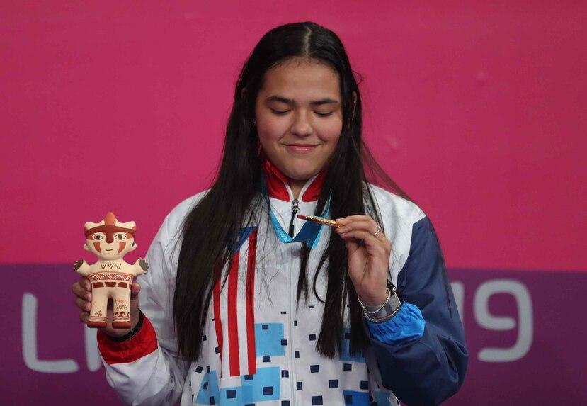Adriana Díaz había ponchado su boleto a Tokio con la medalla de oro en los Panamericanos de Lima 2019. (Archivo)