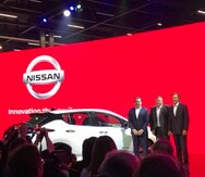 Durante el Salón del Automóvil de Sao Paulo se presentó el nuevo Nissan Leaf.