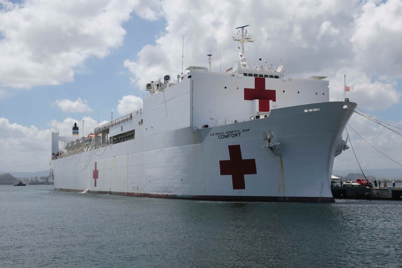 Until last Tuesday, 4,799 people had received medical services since the ship arrived in Puerto Rico on October 3 . (Archive / EFE)
