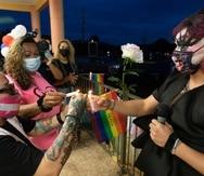 Acto de recordación por la muerte de Michelle Ramos, la mujer trans asesinada el pasado 30 de septiembre en San German .