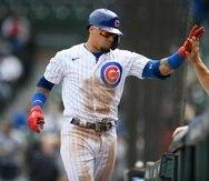Javier Báez, de los Cubs de Chicago, suma ocho jonrones y 26 carreras remolcadas en 34 juegos de esta temporada.