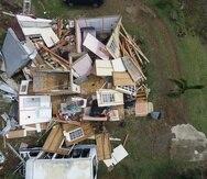Una estructura destruida por el huracán María. (GFR Media)