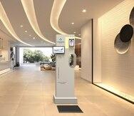 Nuevo sistema Health Checkpoint, de Multimedia, desinfecta las manos y los zapatos, escanea la temperatura corporal, entre otros detalles.