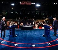 El presidente Donald Trump (der.) puede seguir contando con el apoyo de los votantes rurales y los hombres blancos mientras que Joe Biden (izq.) casi tiene asegurado un fuerte apoyo de las mujeres y los votantes negros en el estado.