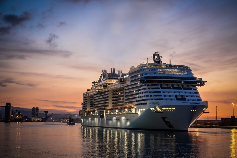 El primer barco en llegar desde puertos internacionales a Barcelona fue el MSC Grandiosa.