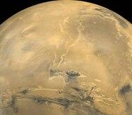 Las concentraciones de oxígeno molecular son particularmente altas en las regiones polares de Marte. (NASA)