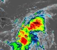 Imagen de satélite de la tormenta tropical Grace.