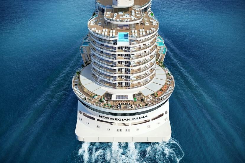 El crucero Norwegian Prima de Norwegian Cruise Line impacta por sus dimensiones y diseño.