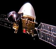 La sonda Tianwen-1 en camino a Marte. (CNSA)