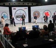 Los seis candidatos a la gobernación durante el Debate Decisivo.