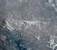 Imagen de satélite que muestra la densa nube de polvo del Sahara que cubre a Puerto Rico.