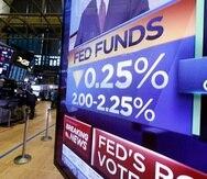 La Reserva Federal espera que los bajos intereses resulten en un aumento de transacciones económicas como compras de viviendas.  En la imagen, un vistazo del New York Stock Exchange.