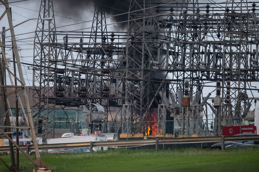 El fuego en Monacillos provocó que hasta 900,000 abonados se quedaran sin electricidad.