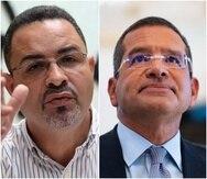 El alcalde de Juana Díaz, Ramón Hernández, y el gobernador Pedro Pierluisi.