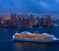 El crucero Oasis of the Seas en su primera llegada a Nueva York el pasado 18 de agosto de 2021. Royal Caribbean International